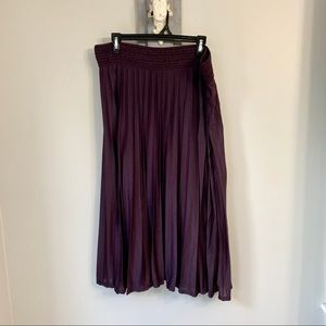 Metro Wear BoHo Style Deep Purple Maxi Skirt